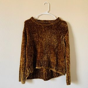 Zara Small Chunky Chenille Cropped Sweater